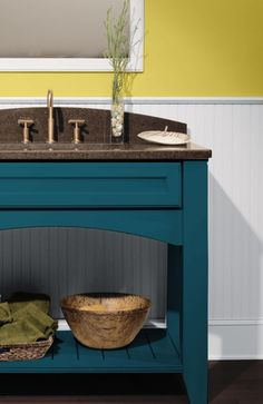 """Dura Supreme Bathroom Vanity with an """"Oceanside"""" Personal Paint Finish"""