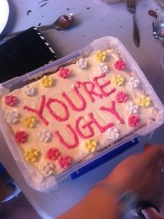 Here we have collected a huge list of trending Happy Birthday Meme which helps you to make LOL to your family and friends. Use these funny happy birthday Pretty Birthday Cakes, Pretty Cakes, Happy Birthday, Funny Birthday Cakes, Cute Food, Yummy Food, Comida Picnic, Ugly Cakes, Kreative Desserts