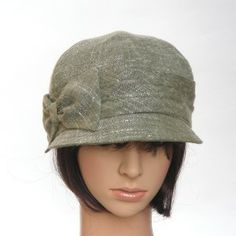 LOW-RIDER - sage cotton/rayon summer tweed - Rosehip Hat Studio