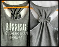 RUNNING Cheaper than Therapy Fitted White Ink Small by personTen, $30.00