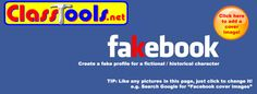 Fakebook- use as classroom tool for researching/discussing historical figures, careers, characters in books, etc. Teaching Technology, Technology Tools, Teaching Resources, Educational Websites, Educational Technology, Faux Profil Facebook, Digital Literacy, Library Lessons, Teacher Tools