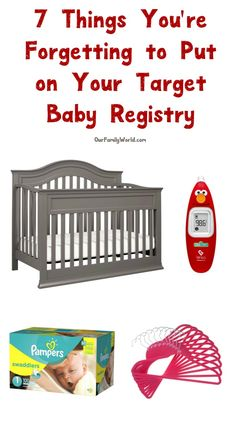 Setting up your Target Baby Registry? I bet you're forgetting to add these things! Check them out! #ad