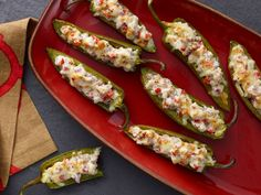 Italian Stuffed Jalapenos Recipe : Food Network - FoodNetwork.com   I'm making these for a party tomorrow!