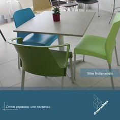 Dale un toque diferente a tus espacios y crea ambientes modernos. Chair, Furniture, Home Decor, Environment, Spaces, Chairs, Mesas, Trendy Tree, Colors