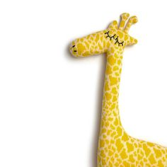 Plush Giraffe Knitted Lambswool Toy Made to order by saracarr