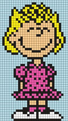 Sally From Snoopy And The Peanuts Gang Perler Bead Pattern / Bead Sprite
