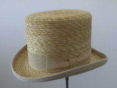 Cappello a cilindro maglina naturale di paglia estivo