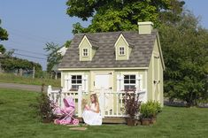 Shed conversion to playhouse inspiration    Playhouse Cape Cod 8x8 Little Cottage Co Playhouse, DIY Playhouses