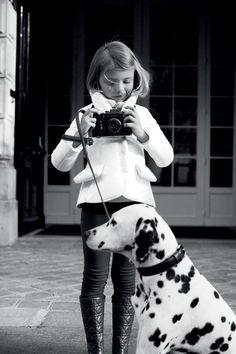 Black and white for girl and doggie.