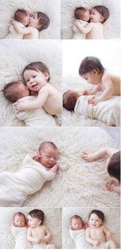 How cute is that???  I want 2 babys just to have a pic like this one..