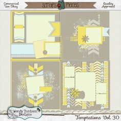 Temptations Vol. 30 {CU/PU/S4O/S4H) by Wendy Tunison Designs found at Scraps N Pieces