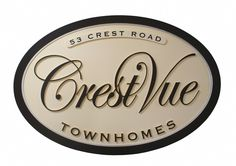 Home Builder Signs for an Alabama developer. Crest Vue Townhomes. Routed in hdu. Strata Sign Company www.customoutdoorwoodensigns.com