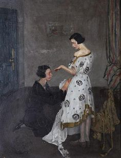 The Dressmaker by Margaret Clarke, [1924]. Crawford Gallery, Public Domain