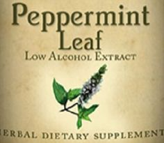 PEPPERMINT LEAF Tincture Tonic for Common Cold Inflammations Indigestion Nausea All Natural