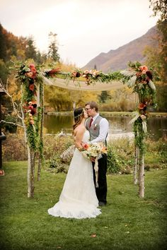 Shaun and Weston's Rustic Autumn Wedding at Log Haven Restaurant in Utah Wedding By Pepper Nix Photography