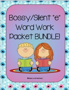 "This is a bundle of my 4 ""Silent/Bossy e"" Word Work Packets! This bundle includes activities for a_e, i_e, o_e, u_e."