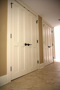 DIY Closet Door Ideas | Ideally, I'd like to have double doors like these (photo from here ...