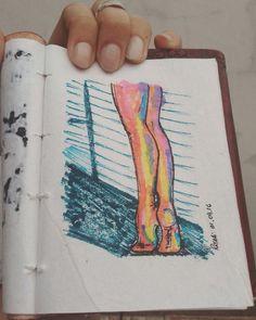 #art #drawing #painting #sketch #sketchbook #markers #ballerina #ballet #tiny #dancer #dance #inspiration #illustration #arte #desenho #inspiração #ilustração #roselices