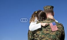 Military Father And Daughter Reunited - remember what today is about...