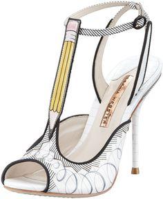 http://www.HerShoeAddiction.blogspot.com ShopStyle.com: Sophia Webster Dixie Pencil T-Strap Sandal $650.00