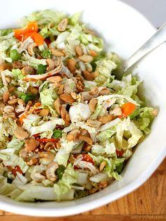 Healthy Chinese Chicken Salad #healthy #dinner #salad