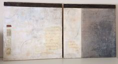 Encaustic diptych on wood panels by Helen Lewis - www.etsy.com/shop/illuminatingwords, our amazing panels for our house! Check out Helen's etsy shop for more work!