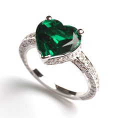 Henri J.Sillam, Heart-shaped Emerald Ring