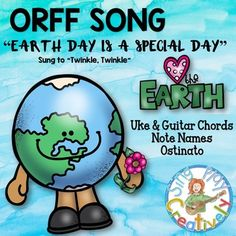"FREEBIE!  ORFF SONG: ""Earth Day is a Special Day"" *Ostinato *Notes *"
