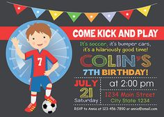 Bubble Soccer Birthday  Invitation Bubble Soccer by funkymushrooms