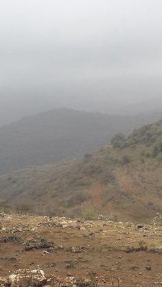 The beginning of Monsoon, Dhofar Mountain. Oman