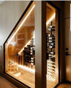 Bar Under Stairs, Under Stairs Wine Cellar, Wine Storage Cabinets, Wine Shelves, Beddinge, Sandstone Fireplace, Outdoor Kitchen Plans, Toronto Houses, Home Wine Cellars