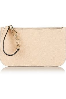 Valextra Textured-leather pouch | NET-A-PORTER