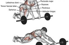 Barbell rollout exercise