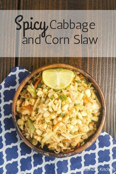 Healthy Cabbage and Corn Slaw