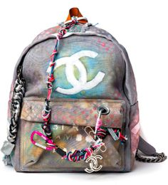 chanel graffiti backpack I will have. I must have this. Been so obsessed with this one since I seen Kim Zoicak have one
