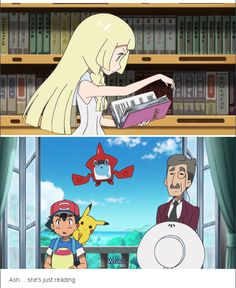 Take notes girls; all you have to do to impress Ash is read a book in front of him