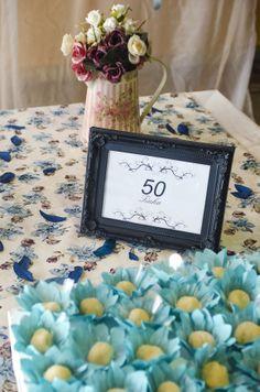 Decoração de Mesa - 50 anos