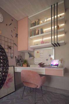 Small room bedroom - 50 simple and wonderful wall light ideas for teens 46 Room Design Bedroom, Teen Bedroom Designs, Bedroom Decor For Teen Girls, Home Room Design, Room Ideas Bedroom, Small Room Bedroom, Home Decor Bedroom, Master Bedroom, Rooms For Teenage Girl