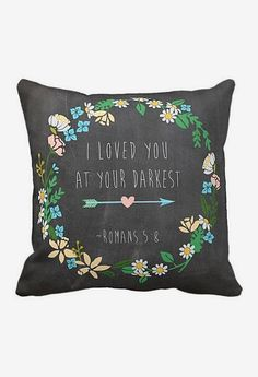 Pillow Cover Bible Verse Religious Chalkboard Style... So true...