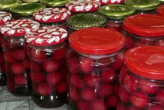 Compot de cirese Salsa, Food And Drink, Jar, Stuffed Peppers, Vegetables, Drinks, Syrup, Canning, Drinking