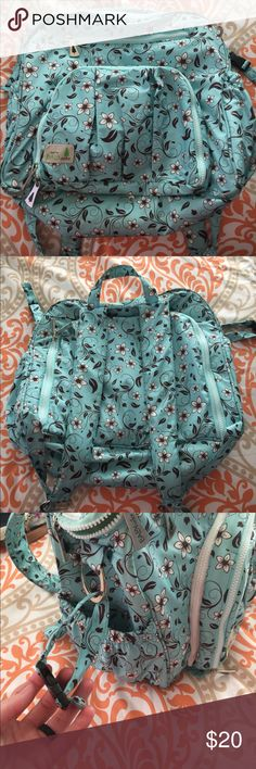 Backpack diaper bag It's a backpack diaper bag but has a strap to also use as a shoulder bag as well! Also has stroller straps on the bag as well. Bags Baby Bags