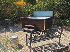 Jacuzzi JLX in peaceful backyard setting. www.gordonandgrant.com