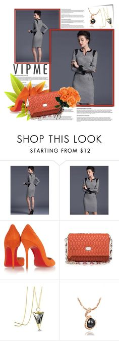 """""""vipme"""" by karic-lejla ❤ liked on Polyvore featuring Post-It, Christian Louboutin, women's clothing, women, female, woman, misses and juniors"""