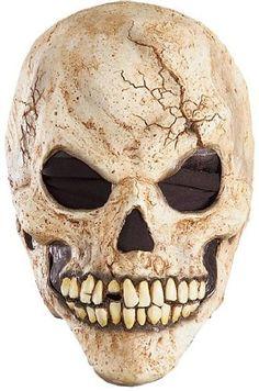 fb5ce0a12696d Amazon.com: Adult Skeleton Human Skull Scary Horror Halloween Mask Adult  Standard: Clothing