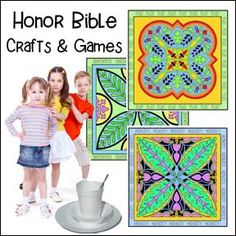 Honor Bible Crafts and Games for Children's Ministry Bible Crafts For Kids, Bible Lessons For Kids, Summer Crafts For Kids, Kid Crafts, Sunday School Lessons, Sunday School Crafts, Church Ideas, Games For Kids, Ministry