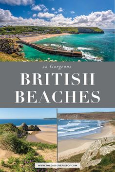 The United Kingdom boasts some absolutely stunning beaches for you to travel to, if you know where to find them. Don't miss this handy guide to the best UK beaches for your British summer holiday bucket list! From Cornwall to the West Coast, it's time to Best Uk Beaches, Europe Beaches, British Beaches, Most Beautiful Beaches, Uk Summer, British Summer, English Summer, Lanai Island, Island Beach