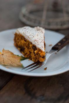 Lisia Kawiarenka: Wilgotne ciasto dyniowe z twarożkiem