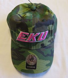 NWT '47 Brand Eastern Kentucky Women's NCAA Fashion Clean Up Hat in Camo & Pink #47Brand #EasternKentuckyColonels