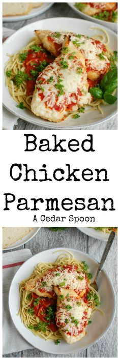 Baked Chicken Parmesan takes your favorite Italian dish and lightens ...