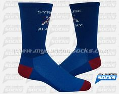 Socks designed by My Custom Socks for Syracuse Academy Of Science in Syracuse, New York . Multisport socks made with Coolmax fabric. #Multisport custom socks - free quote! ////// Calcetas diseñadas por My Custom Socks para Syracuse Academy Of Science en Syracuse, New York. Calcetas para Multideporte hechas con tela Coolmax. #Multideporte calcetas personalizadas - cotización gratis! www.mycustomsocks.com.